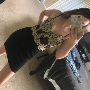 Windsor Homecoming black and gold dress